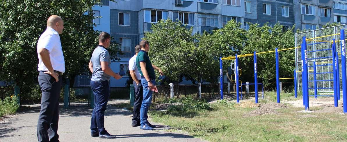 """Завдяки """"батьківщинівцям"""" у Черкасах встановлено спортивні тренажери"""